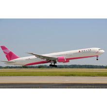 Delta pink plane