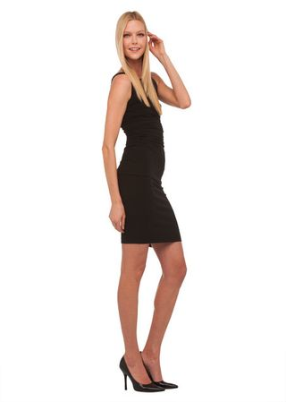 Norma kamali sleeveless shirred dress