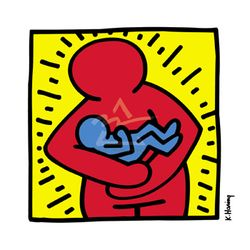 Keith haring mother and child