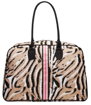 Travel duffle in animal print-Sonia Kashuk