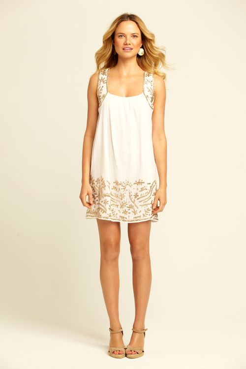 Calypso St Barth White Sequin Dress