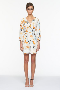 DVF dress swedish meadow blue