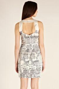 London Cityscape dress back