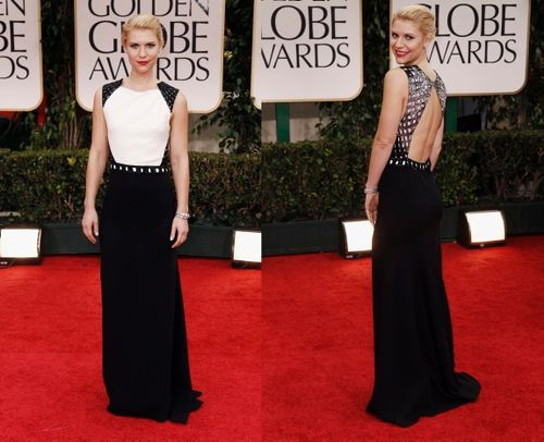 Claire danes dress golden globes