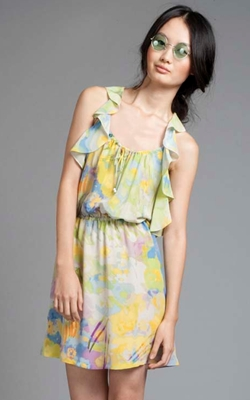 Tracy reese watercolor floral dress