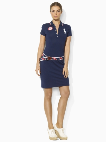 ... Rallp Lauren Team USA Dress · Ralph Lauren Team USA Mesh Polo Dress