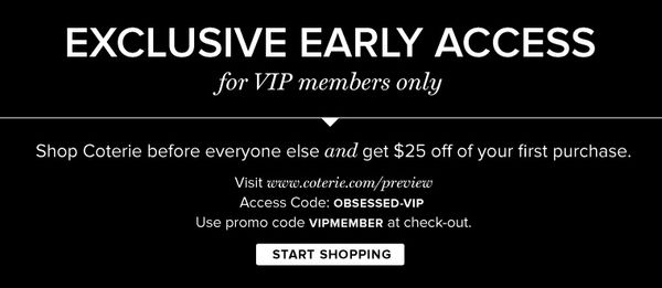 There's A Chic New Beauty Website In Town: Join Coterie and Save $25 on Your First Purchase