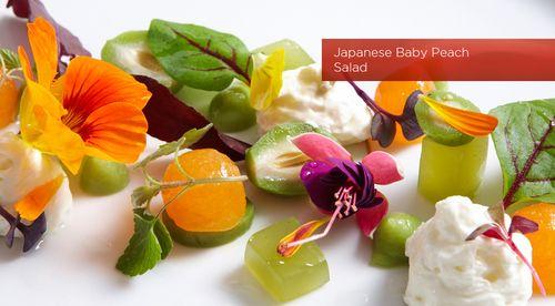 Oscar japanese baby peach salad