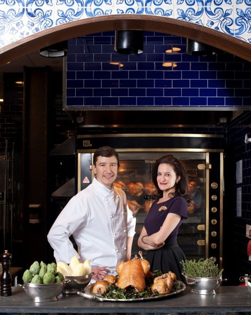 Chef Brauze and Georgette Farkas