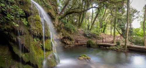 Domaine de la Baume waterfall