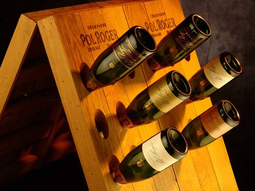 Pol Roger Champagne Bottles