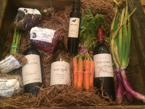 Tom Gore wine and produce