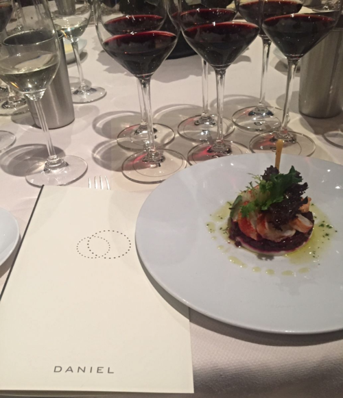 Andre Lurton wine Daniel Lobster Salad