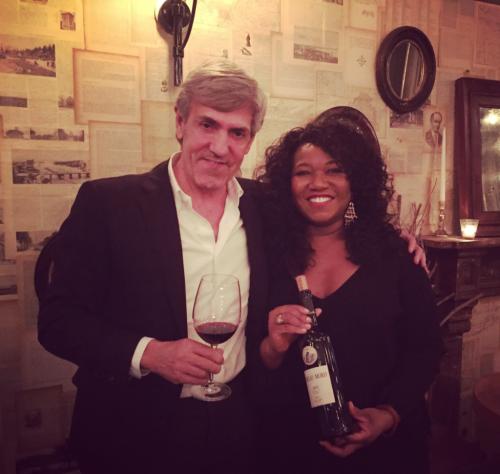 Jose Moro wine and Wanda MAnn