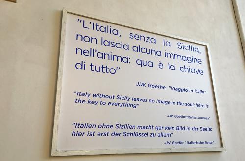 Donnafugata Marsala Goethe quote