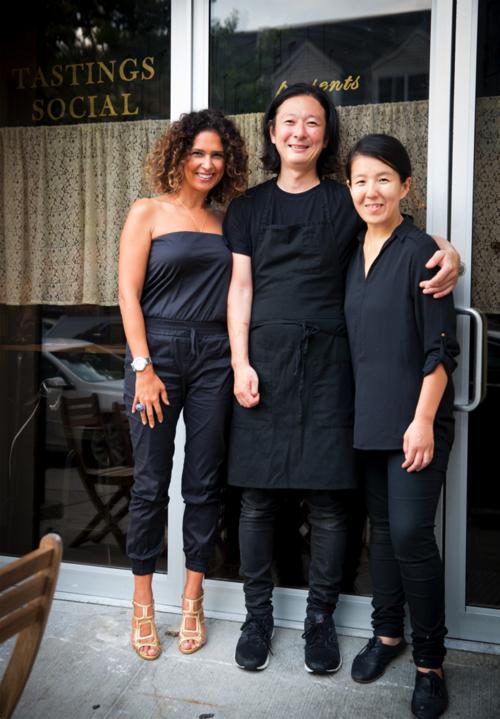 Tastings Social Presents Mountain Bird - Tastings Social's Alexandra Morris - Chef Kenichi Tajima and Wife Keiko-1