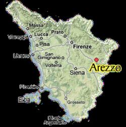 Arezzo map