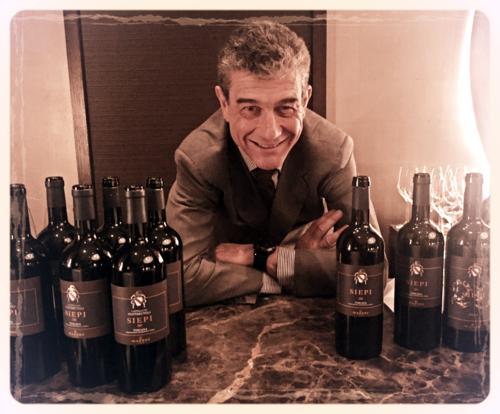 Francesco Mazzei with vino