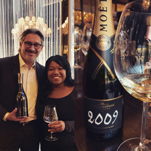 Benoit Gouez of Moet  & Chandon and Wanda Mann