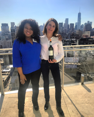 Wanda Mann & Bordeaux winemaker Corinne Comme