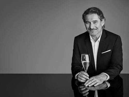 Moët & Chandon Chef de Cave Benoit Gouez with flute